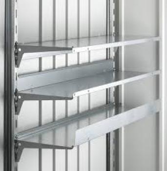 Accesorio set de estanterias 2 baldas grandes para armario biohort metalico armarios de resina - Baldas para armarios ...