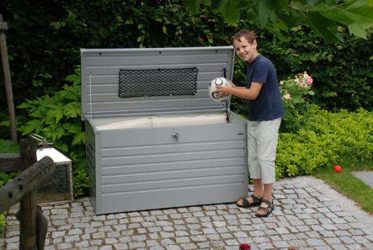 Arcon metalico biohort de ocio 160 cofre baul de jardin - Arcones de jardin ...