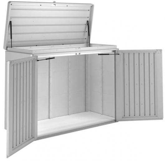 Arcon metalico biohort highboard 160 cofre baul de jardin arcones baules y cofres de resina y - Baul de jardin ...