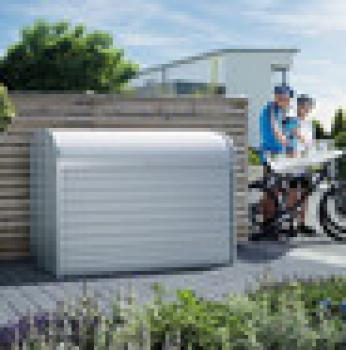 Arcon metalico biohort store max 120 cofre baul de jardin arcones baules y cofres de resina y - Baul de jardin ...
