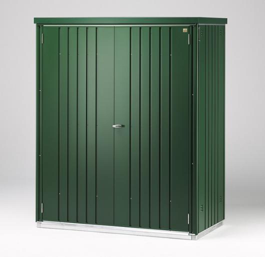 Armario metalico biohort alto jardin color verde oscuro - Armario para jardin ...