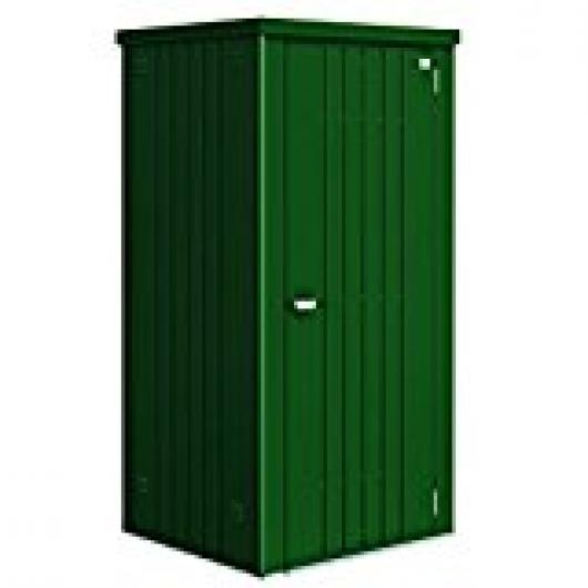 Armario metalico biohort alto jardin color verde oscuro 90 for Armario herramientas jardin