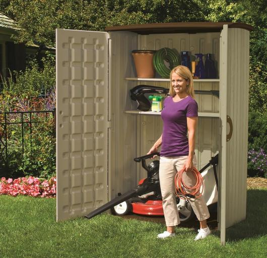 Armario resina jardin suncast bms 450 casetas y - Cobertizos de resina ...
