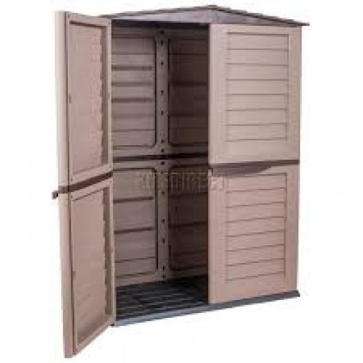 Caseta armario resina jardin starplast grande marron - Cobertizos de resina ...