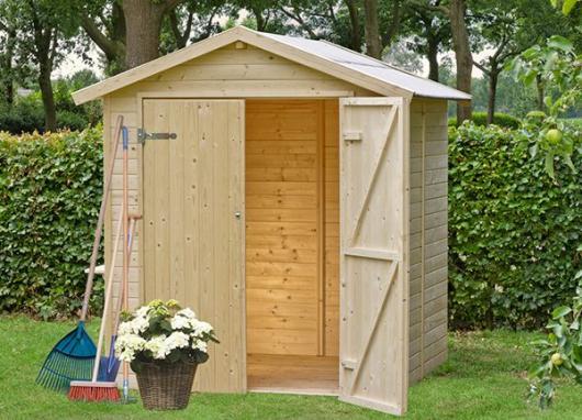 Caseta cobertizo de madera daniel gardiun para jardin for Cobertizos para jardin