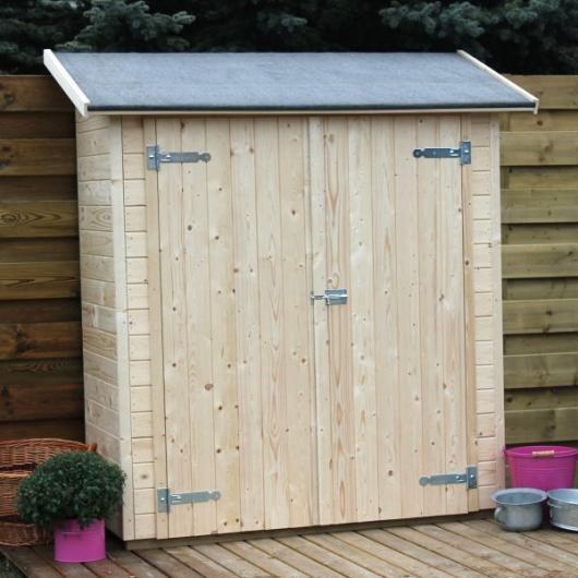 Caseta cobertizo de madera marge gardiun para jardin for Cobertizo de resina