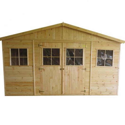 Caseta cobertizo de madera vladimir gardiun para jardin for Cobertizo de madera para terraza