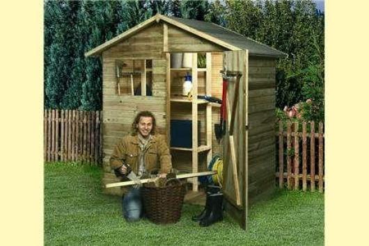 Caseta cobertizo madera jardin garden box n 2 casetas y for Cobertizo de madera tratada