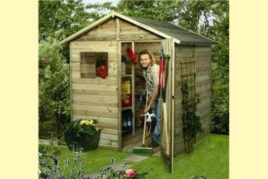 Caseta cobertizo madera jardin garden box n 4 casetas y for Cobertizo de madera tratada