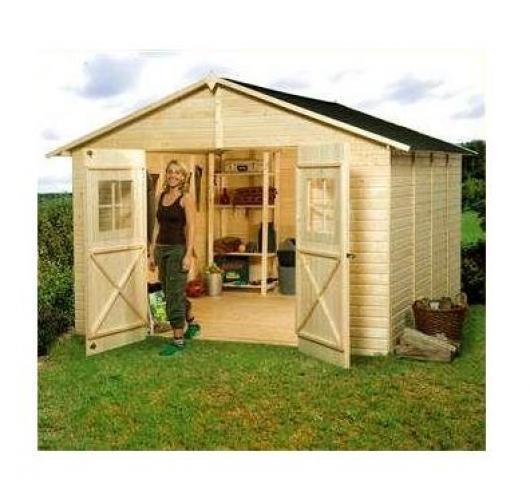 Caseta cobertizo madera jardin perfekt 10 0 casetas y for Cobertizo de madera tratada