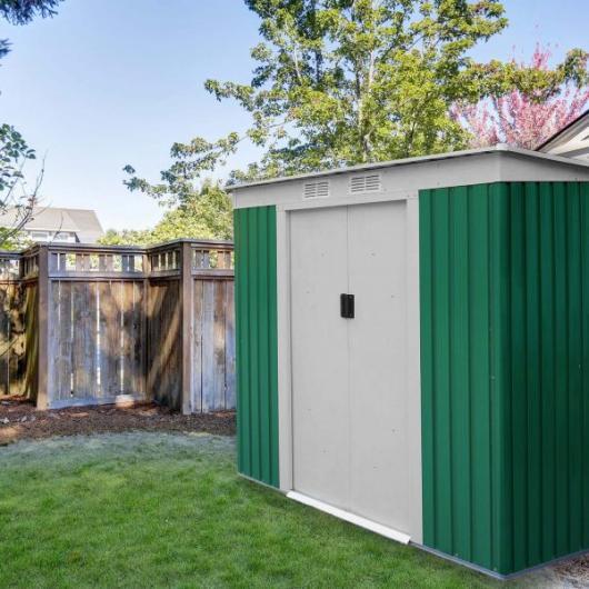 Caseta cobertizo metal jardin buckingham gardiun casetas for Cobertizo jardin