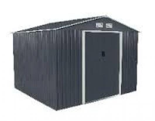 Caseta cobertizo metal jardin ecoline 8x8 duramax - Casetas de metal ...