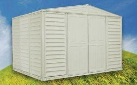 Caseta cobertizo pvc jardin woodbridge duramax casetas y for Casetas pvc exterior segunda mano