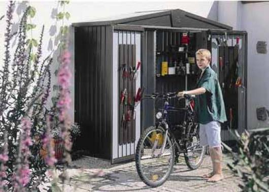 Caseta metalica biohort jardin europa 1 casetas y for Cobertizos y casetas
