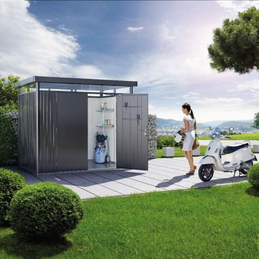 Caseta metalica biohort jardin highline h5 casetas y for Cobertizos metalicos para jardin
