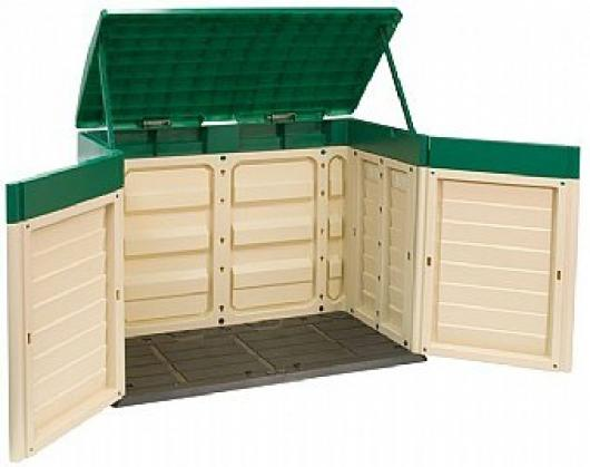 Cofre baul arcon de resina starplast para jardin marron casetas y cobertizos jardin casetas - Cobertizos de resina ...