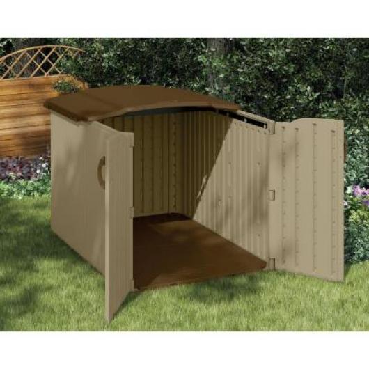 Cofre baul arcon resina jardin suncast bms4900 casetas y for Cobertizo de resina