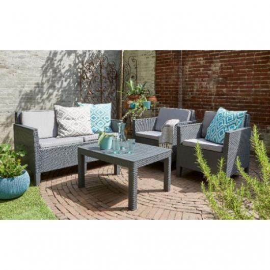 CONJUNTO PARA TERRAZA Y JARDIN CHICAGO LOUNGE SET ALLIBERT - MUEBLES ...