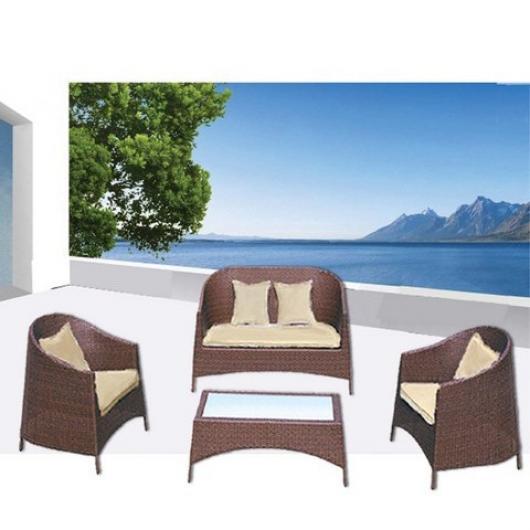 Conjunto para terraza y jardin de ratan valencia muebles for Muebles de jardin valencia