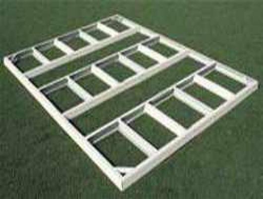 Kit estructura para suelo de casetas metalicas colossus y hercules duramax casetas y - Casetas de metal para jardin ...