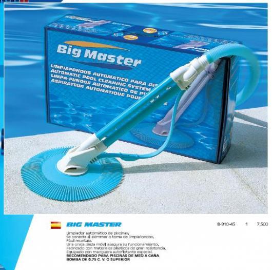 Limpiafondos automatico piscina big master piscinas para jardin productos de limpieza - Limpiador de piscinas automatico ...