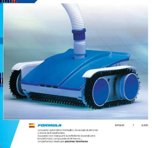 Limpiafondos automatico piscina formula piscinas para for Productos de limpieza de piscinas