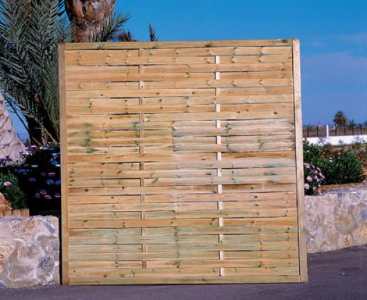 Panel recto madera jardin vallas y cerramientos jardin paneles de madera jardin casetas y - Paneles de madera para jardin ...