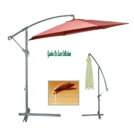 Parasol lateral aluminio 3 mts piscinas y jardines - Sombrillas y parasoles ...