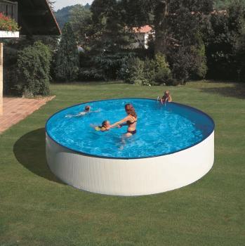 Piscina gre redonda kitpr3550e con filtro de cartucho - Liner piscina redonda ...