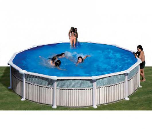 Piscina gre redonda kitpr 358 c piscinas gre imitacion for Piscinas gre precios
