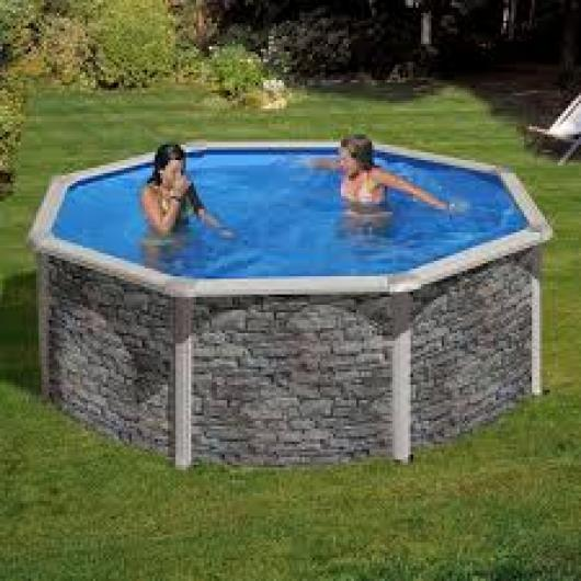 Piscina gre redonda kitpr 358 po piscinas gre corcega for Piscinas redondas desmontables