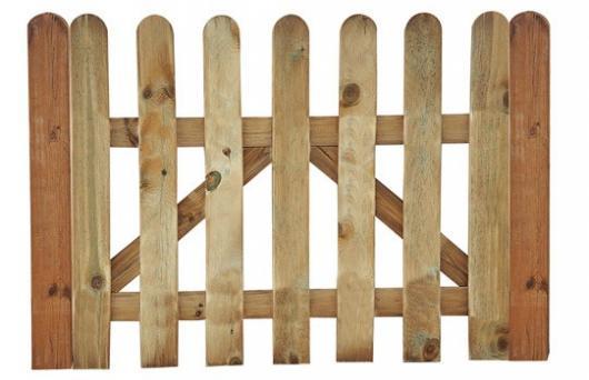 Puerta valla cl sica madera jardin vallas y cerramientos - Puerta jardin madera ...