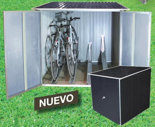 Storage bici arcon guarda bicis de metal duramax arcones for Guarda herramientas para jardin